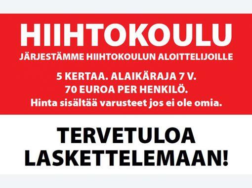 HIIHTOKURSSI ALOITTELIJOILLE