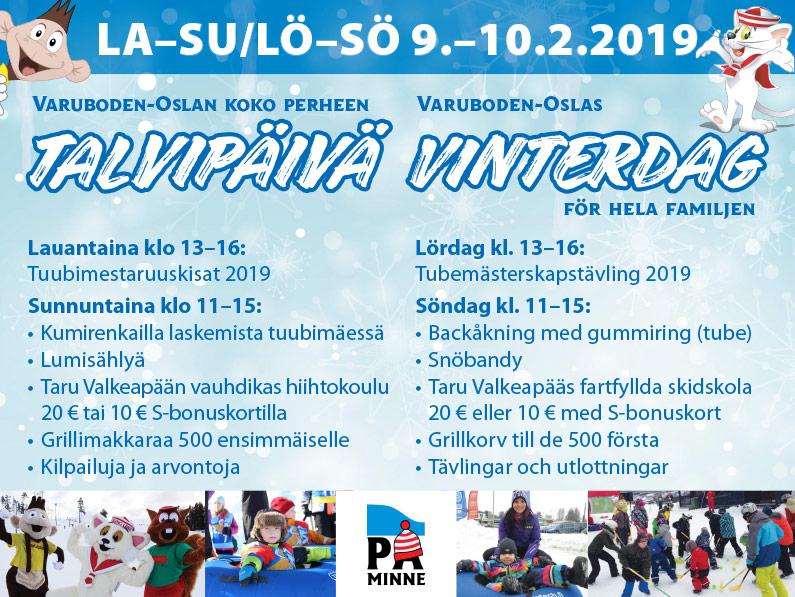 Vinterdags-evenemang för hela familjen 9 – 10.2