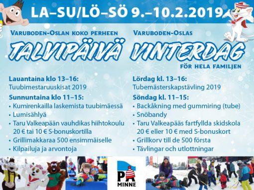 Koko perheen Talvipäivä-tapahtuma 9 – 10.2